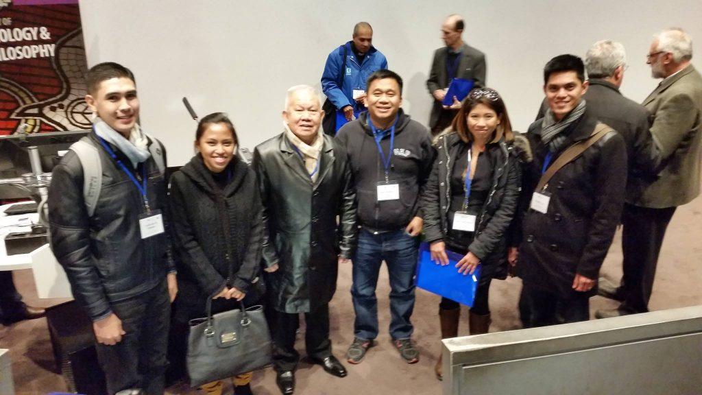 Co, Fr. Miranda, Philosophy faculty and alumni present in ACU