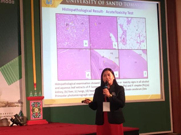 Castillo of Pharmacy, RCNAS presents paper on anti-inflammatory activity of Pandanus in Yogyakarta conference