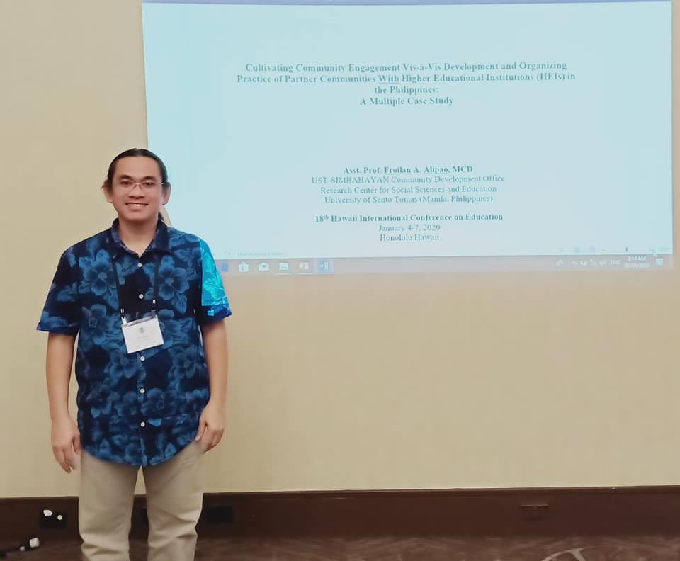 Alipao of Simbahayan, Sociology presents paper in Hawaii conference