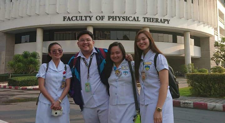 Physical Therapy students take Global Internship Experience at two Thai universities