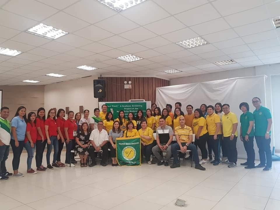 Physical therapy faculty, alumni provide scoliosis screening to 1415 grade school pupils in Nueva Ecija