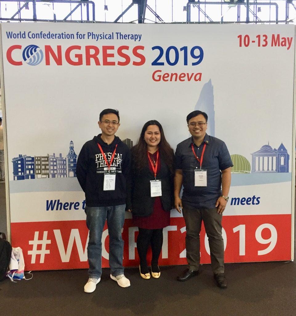 Lipardo, Rimando, Escuadra of CRS present papers in World Physical Therapy Congress in Geneva, Switzerland
