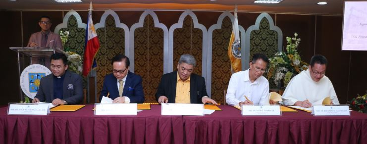 UST, GT Foundation, Inc. sign memorandum of agreement for turnover of Dr. George S.K Ty Hall
