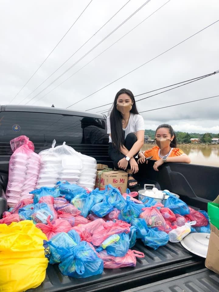 Legal Management junior helps out residents of Isabela