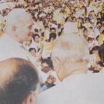 UST 19810218 Papal Visit - John Paul II in Crowd