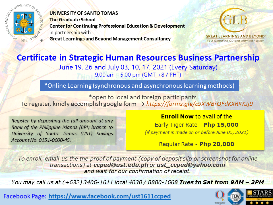 Rescheduled - Certificate in Strategic Human Resource Business Partnership