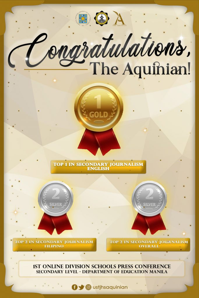 The Aquinian bags 13 awards in 1st Online Division Schools Press Conference – Secondary Level 2021